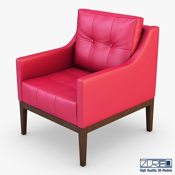 Carmen armchair red - 3DOcean Item for Sale
