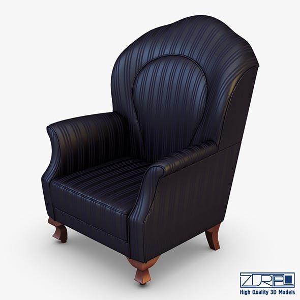 Imperatrice armchair black - 3DOcean Item for Sale