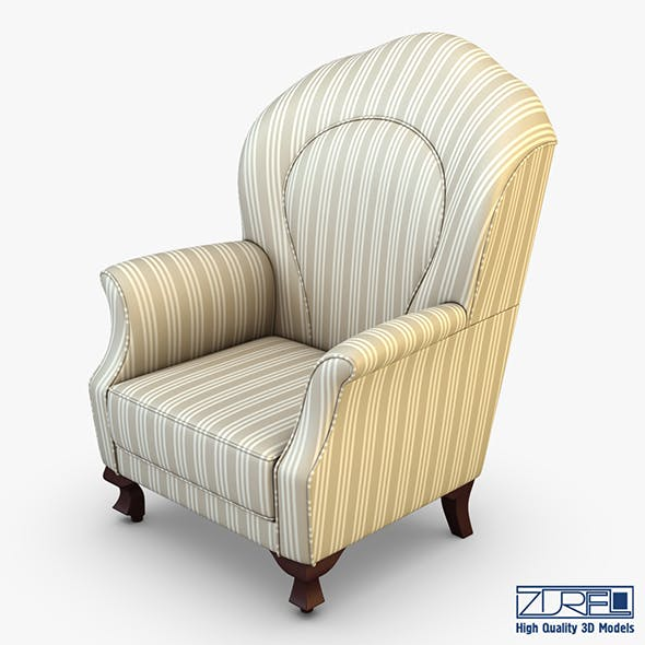Imperatrice armchair white - 3DOcean Item for Sale