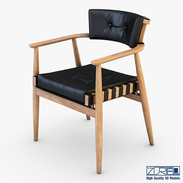 Leather chair black - 3DOcean Item for Sale