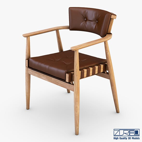 Leather chair brown - 3DOcean Item for Sale
