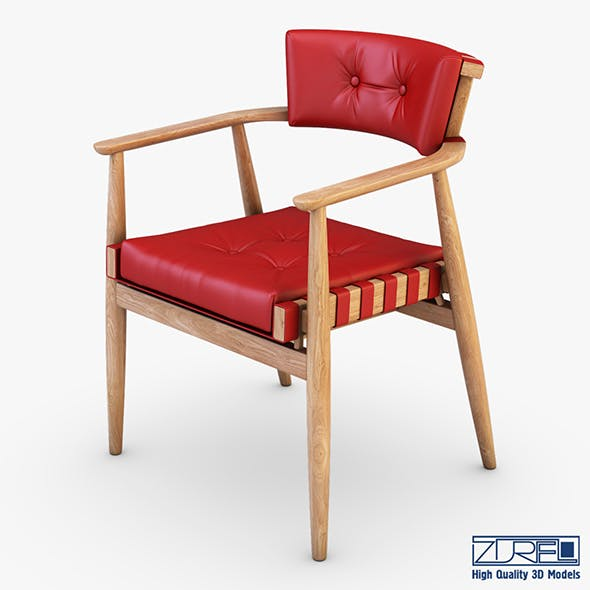 Leather chair red - 3DOcean Item for Sale