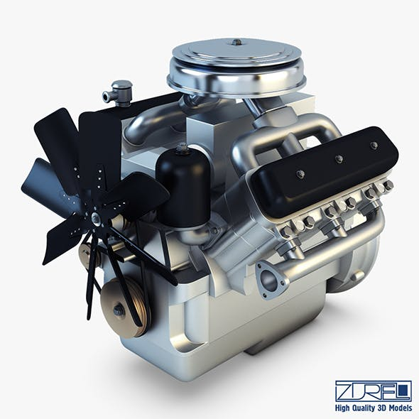 V6 Type Engine v 1 - 3DOcean Item for Sale