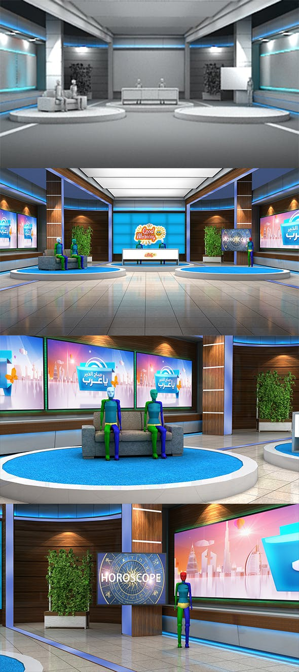 Morning Show 3D Virtual Set - 3DOcean Item for Sale