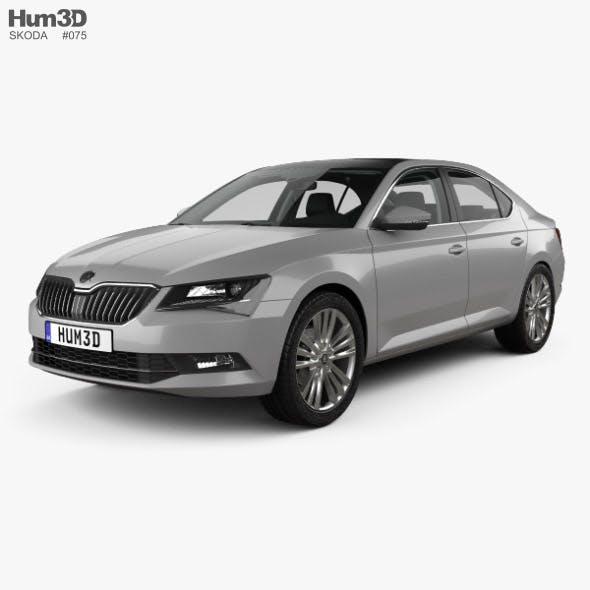 Skoda Superb liftback with HQ interior 2016 - 3DOcean Item for Sale