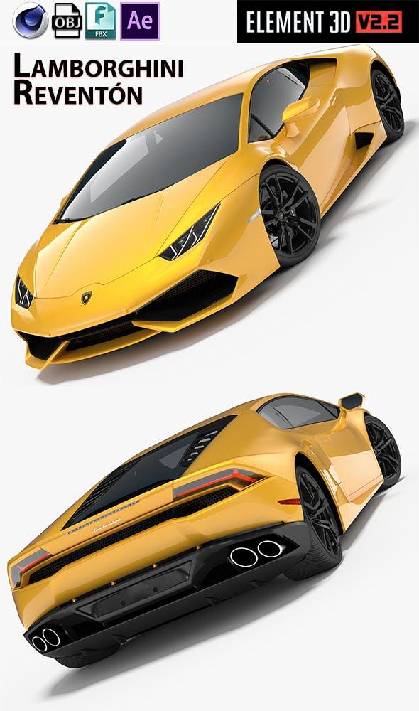 Element 3d V2 Lamborghini Reventón - 3DOcean Item for Sale