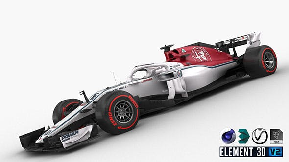 F1 Sauber C37 2018 - 3DOcean Item for Sale