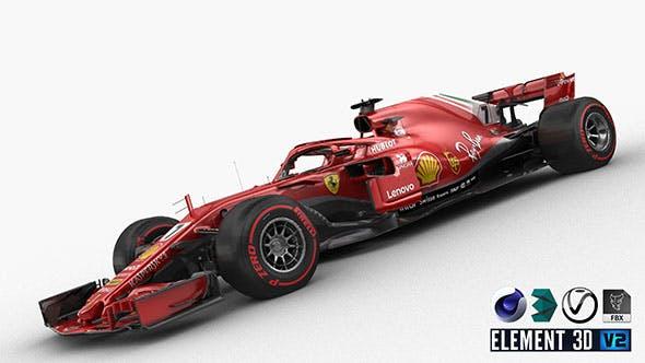 F1 Scuderia Ferrari SF71H 2018 - 3DOcean Item for Sale