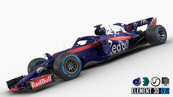 F1 Scuderia Toro Rosso STR13 2018 - 3DOcean Item for Sale