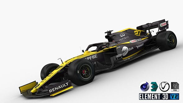 F1 Renault R.S 19 2019 - 3DOcean Item for Sale