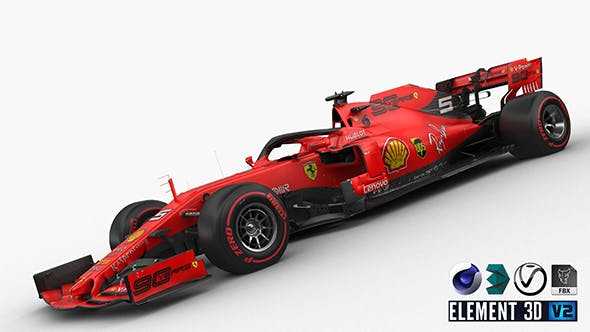 F1 Scuderia Ferrari SF90 2019 - 3DOcean Item for Sale