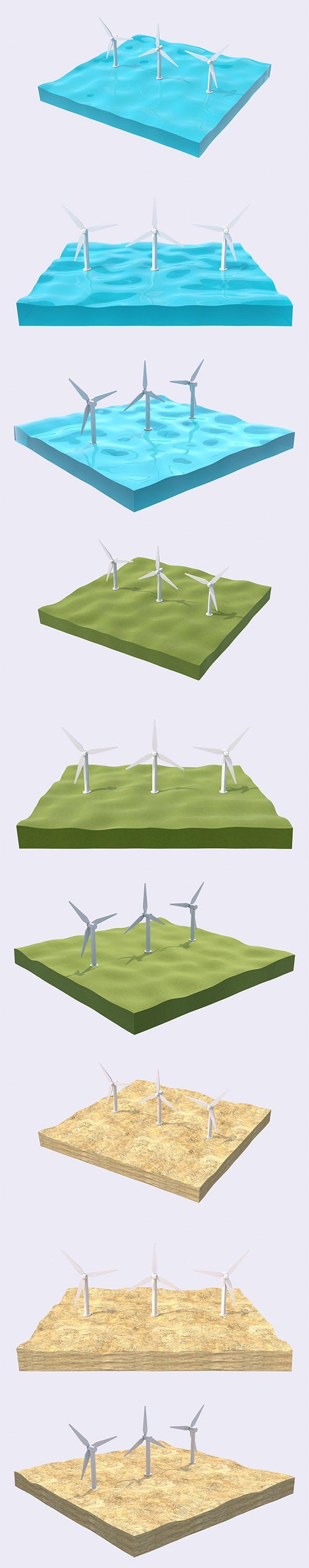 Low Wind Generator - 3DOcean Item for Sale
