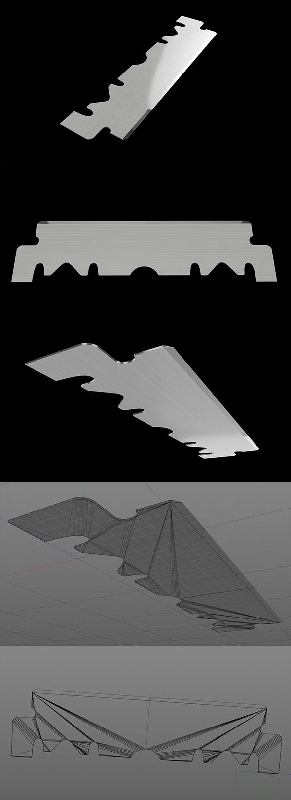 3D Single Edge Blade Razor - 3DOcean Item for Sale