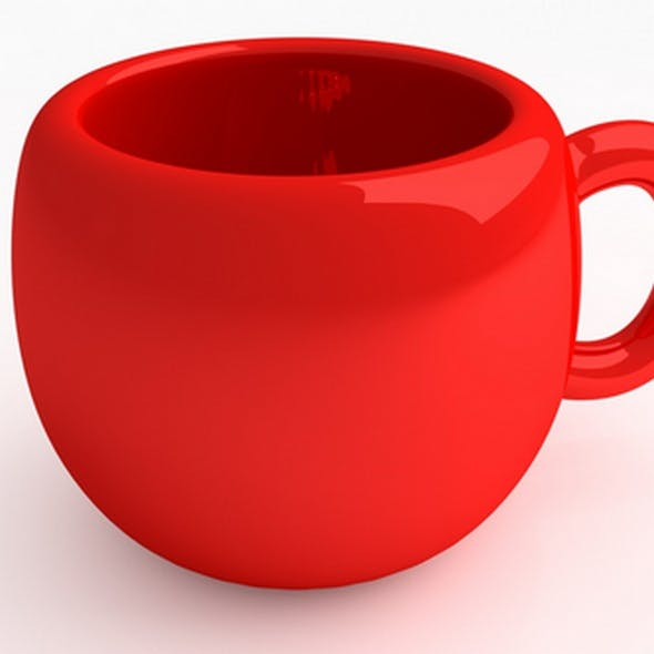 Red Cup - 3DOcean Item for Sale