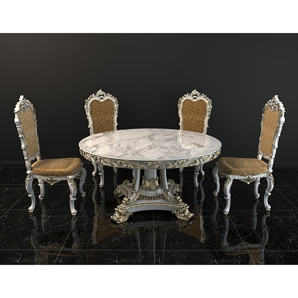 European Style Dinning Table - 3DOcean Item for Sale