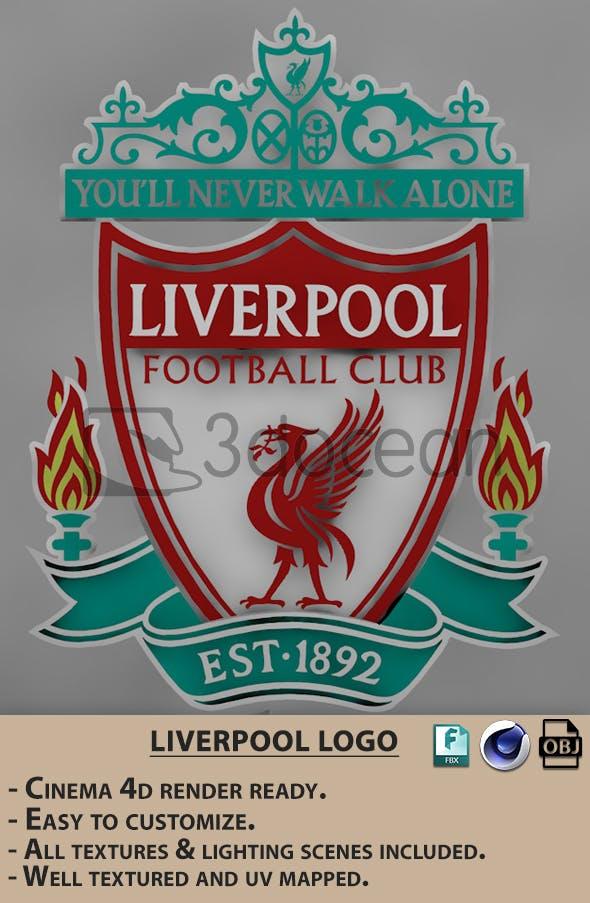Premier League Liverpool logo. - 3DOcean Item for Sale