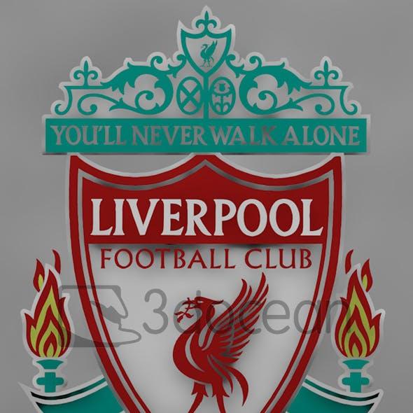 Premier League Liverpool logo.