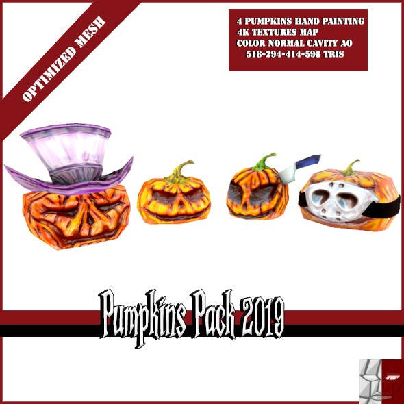 Pumpkins Pack 2019 - 3DOcean Item for Sale