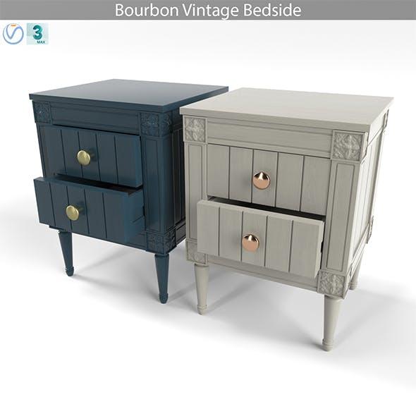 Bourbon Vintage Bedside, Grey and Dark Blue - 3DOcean Item for Sale