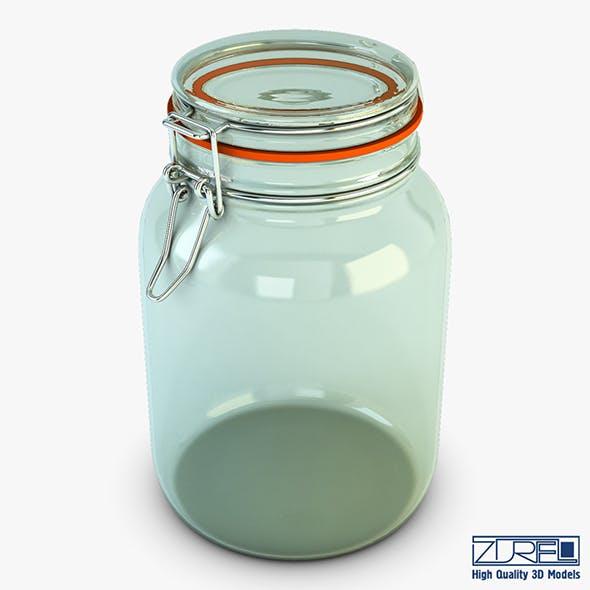 Jar hermetic 1.5 liter v 1 - 3DOcean Item for Sale