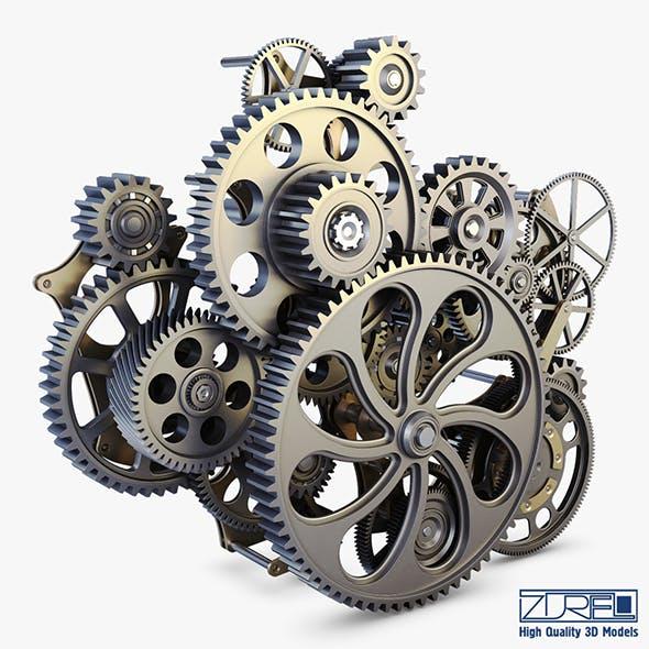 Gear mechanism v 1 - 3DOcean Item for Sale