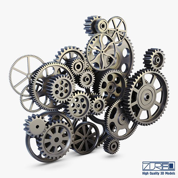 Gear mechanism v 2 - 3DOcean Item for Sale