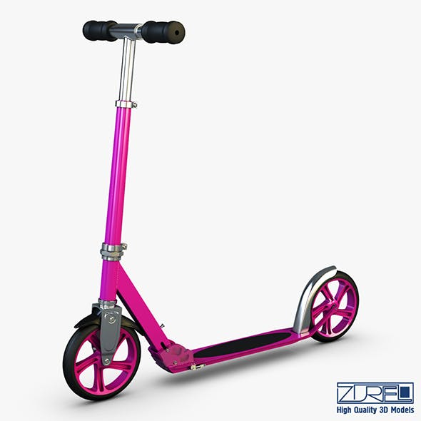 Kick scooter pink
