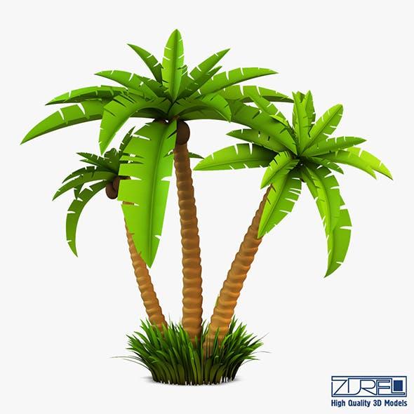 Palm tree v 2 - 3DOcean Item for Sale