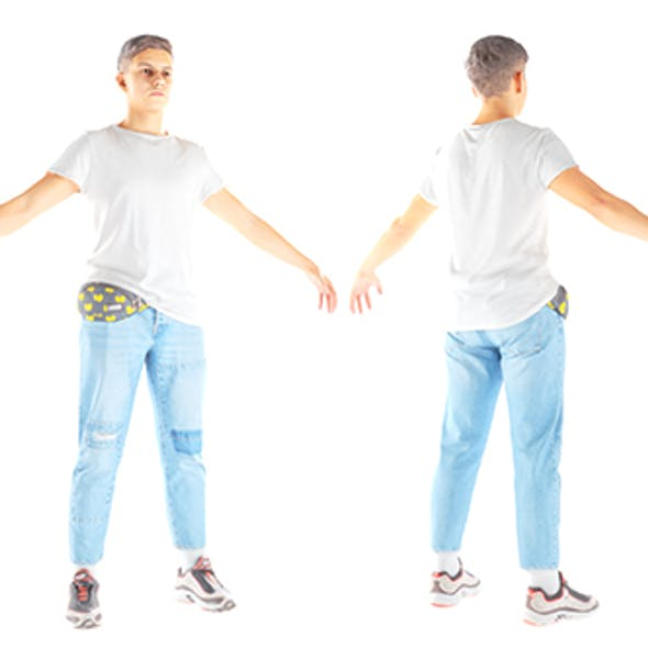 Male casual summer style with PBR textures