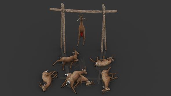 Pack of Dead Deer - 3DOcean Item for Sale