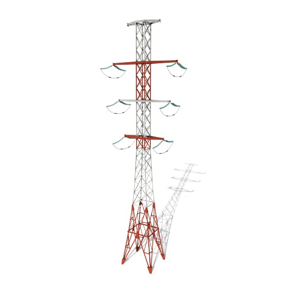 Electricity Pole 14 - 3DOcean Item for Sale