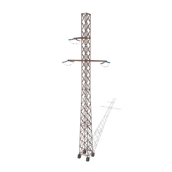 Electricity Pole 15 Weathered - 3DOcean Item for Sale