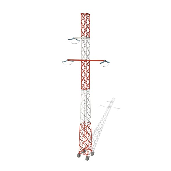 Electricity Pole 16 - 3DOcean Item for Sale