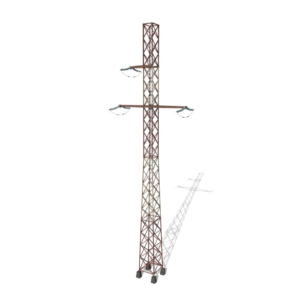 Electricity Pole 16 Weathered - 3DOcean Item for Sale