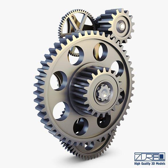 Gear mechanism v 4 - 3DOcean Item for Sale