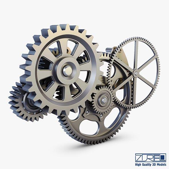 Gear mechanism v 6 - 3DOcean Item for Sale