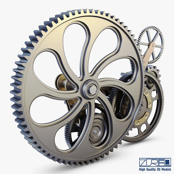 Gear mechanism v 7 - 3DOcean Item for Sale