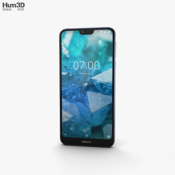 Nokia 7.1 Gloss Midnight Blue - 3DOcean Item for Sale