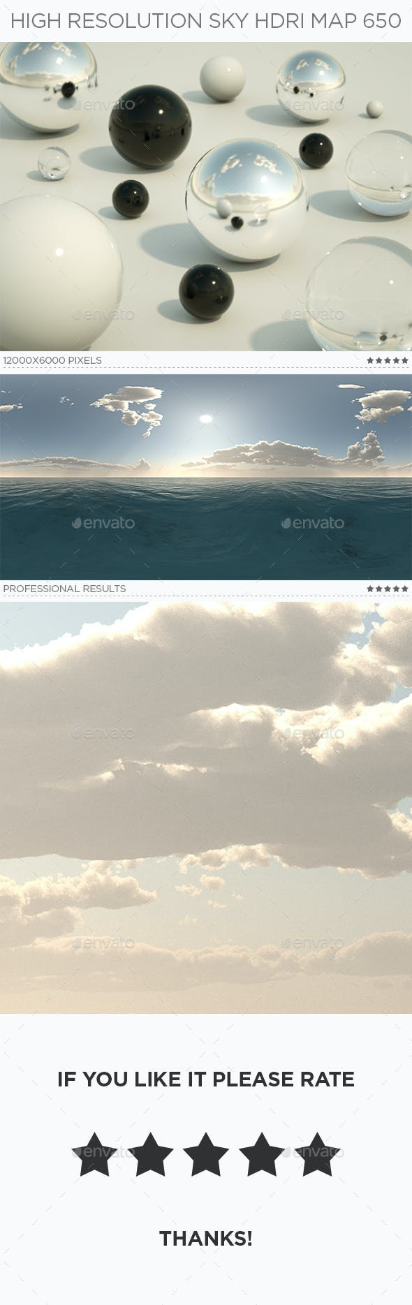 High Resolution Sky HDRi Map 650 - 3DOcean Item for Sale