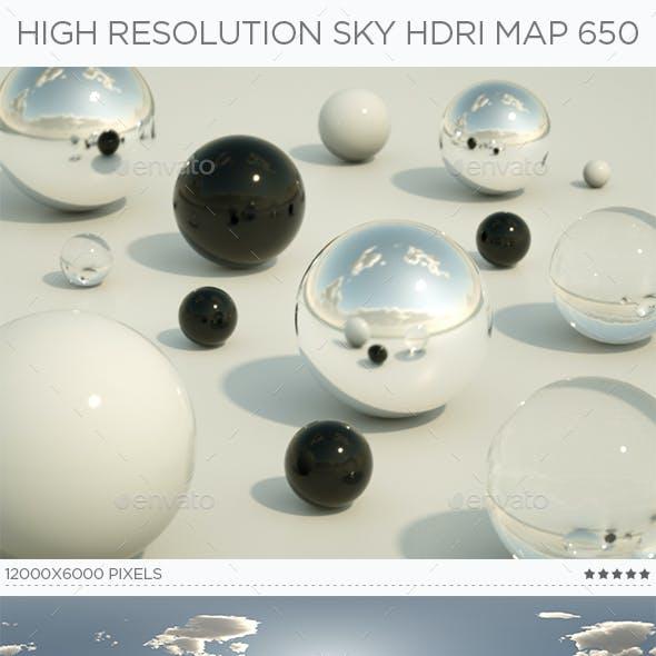 High Resolution Sky HDRi Map 650