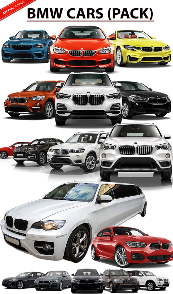 Bmw Cars pack - 3DOcean Item for Sale