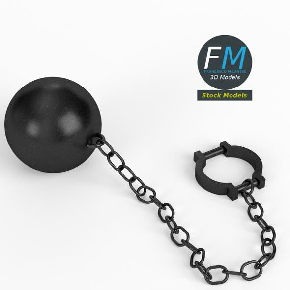 Ball and chain with shackle