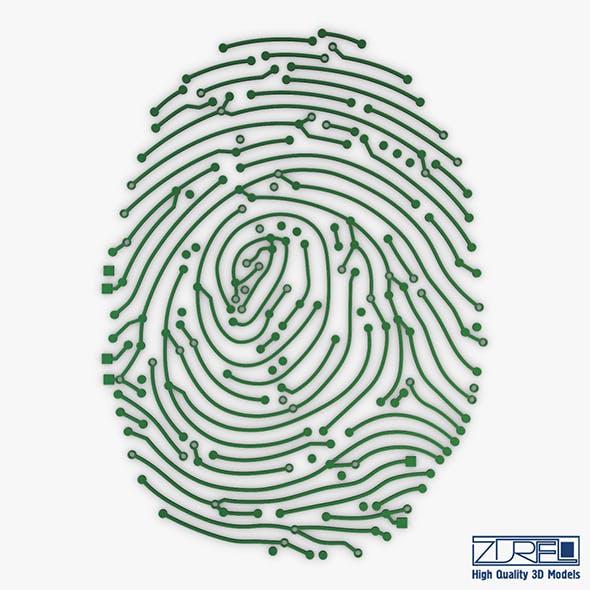 Electronic fingerprint v 1 - 3DOcean Item for Sale