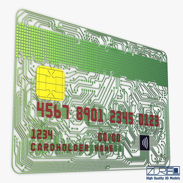 Electronic circuit bank card v 1 - 3DOcean Item for Sale