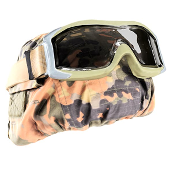 Military helmet with tactical glasses 02