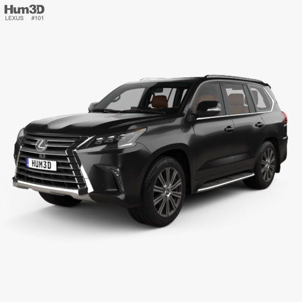 Lexus LX with HQ interior 2016 - 3DOcean Item for Sale
