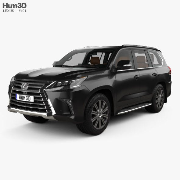Lexus LX with HQ interior 2016
