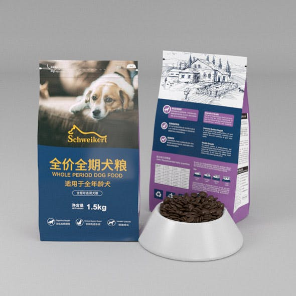 Pet food packaging - 3DOcean Item for Sale