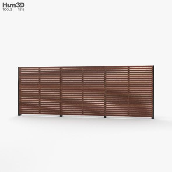Modern Wooden Fence - 3DOcean Item for Sale