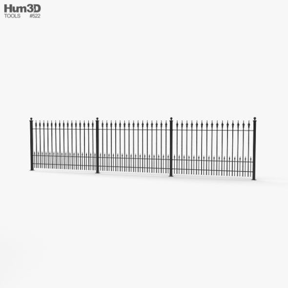 Wrought Iron Fence - 3DOcean Item for Sale